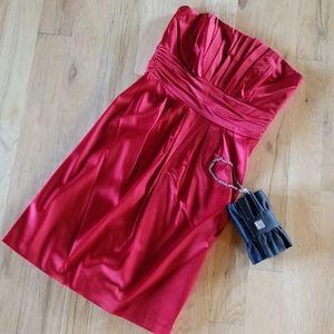 WHBM Satin Holiday Dress